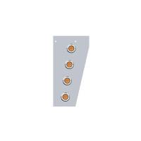 Peterbilt 379 Cowl Extensions With Round Flat LEDs & Bezels