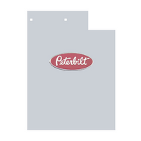 Peterbilt 379 Rectangular Cowl Extensions With Holes For Logo