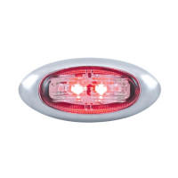 2 LED Clearance Marker Light - Clear Red LED