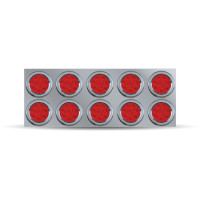 "Rear Center Panel With 10 x 4"" Red LED & License LED - Red Lens"