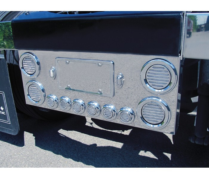 Rear Center Panel With Clear Red Flatline Led Lights