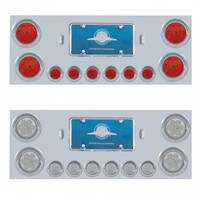 Stainless Steel Rear Center Panel With Reflector LED Lights Both