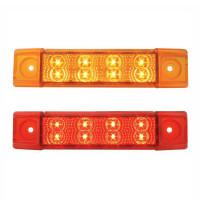 Spyder Rectangular Clearance Marker LED Trailer Light With 8 Diodes