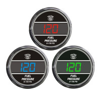 Truck Fuel Pressure TelTek Gauge Color Display Options
