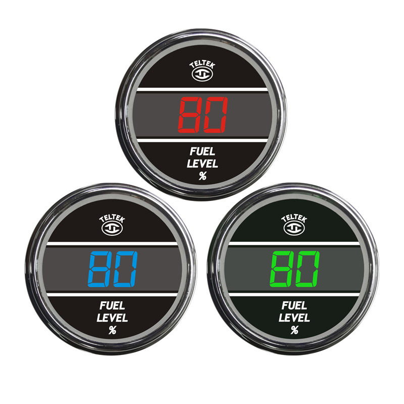 Truck Fuel Level TelTek Gauge Color Display Options