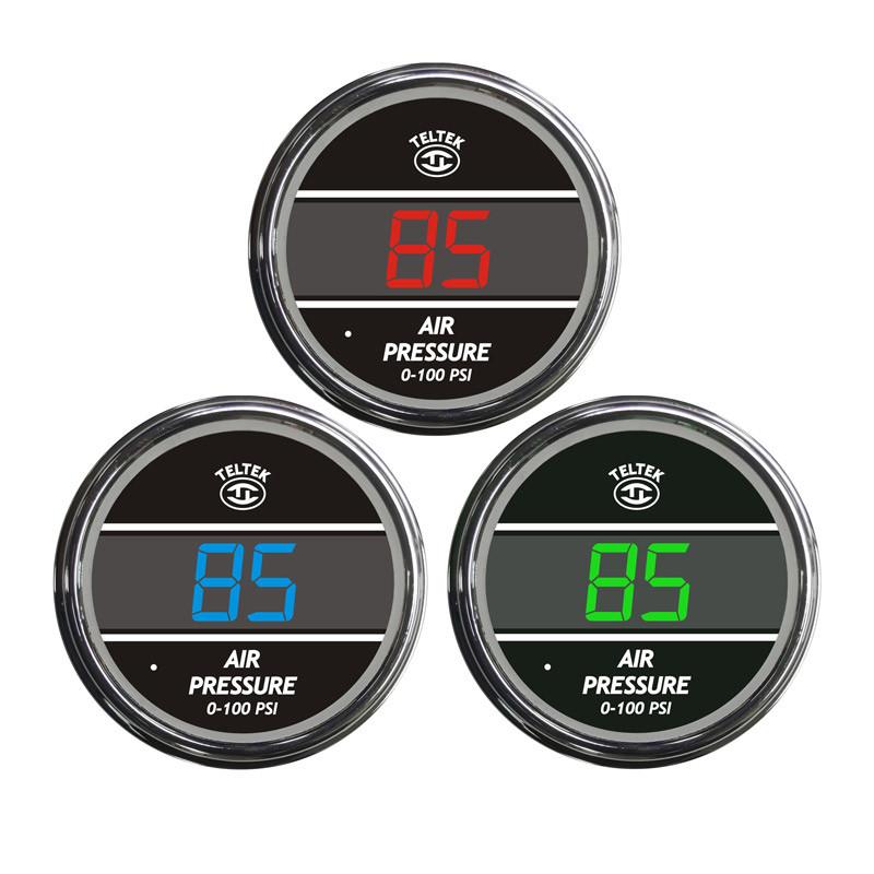 Truck Air Pressure TelTek Gauge Color Display Options
