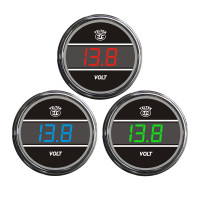 Truck Voltmeter TelTek Gauge Color Display Options