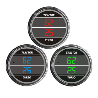Truck Dual Display PSI Tractor/Turbo TelTek Gauge Color Display Options
