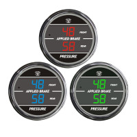 Truck Dual Display Applied Brake Front/Rear TelTek Gauge Color Display Options