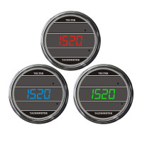 Truck Tachometer TelTek Gauge Color Display Options