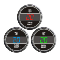 Truck Turbo Boost TelTek Gauge Color Display Options