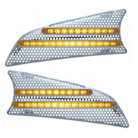 Kenworth T660 LED Air Intake Screen With Amber LEDs