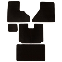 Freightliner Century Columbia & Coronado Floor Mats 5 Piece Kit Carpet Black Manual