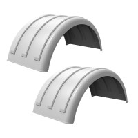 Minimizer Truck Fenders 2260 Series White Poly Fenders