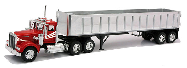 Kenworth W900 With Frameless Dump Trailor 1/32 Scale