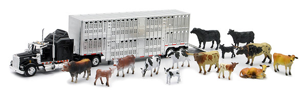 Kenworth Livestock Hauler With Farm Animal Set 1/43 Scale