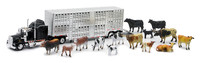 Kenworth Livestock Hauler With Farm Animal Set 1/43 Scale