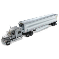 """International LoneStar Day Cab With 53"""" Chrome Plated Trailer 1/50 Scale"""