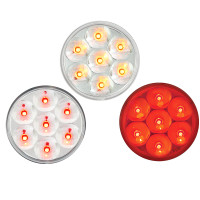 "Pearl 2"" Round LED Clearance Marker Light 7 Diodes"
