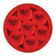 """Pearl 2"""" Round LED Clearance Marker Light 7 Diodes (Red Lens)"""