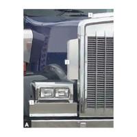 """Kenworth W900L Side Grill Deflectors 19"""" Tall By Roadworks"""