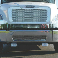 Freightliner M2 Stainless Steel Punch Grill Close Up