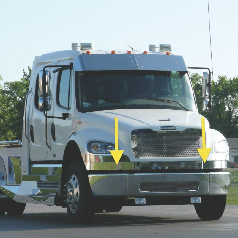 Freightliner M2 Lower Front Hood Grill Trim By Roadworks