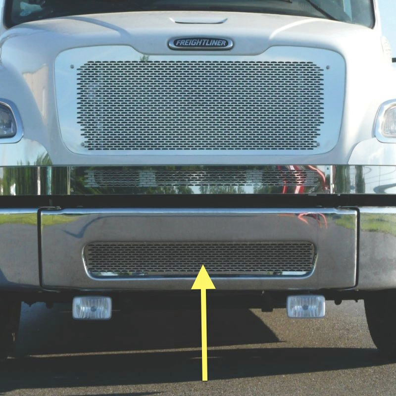 Freightliner M2 Stainless Steel Bumper Punch Grill By Roadworks