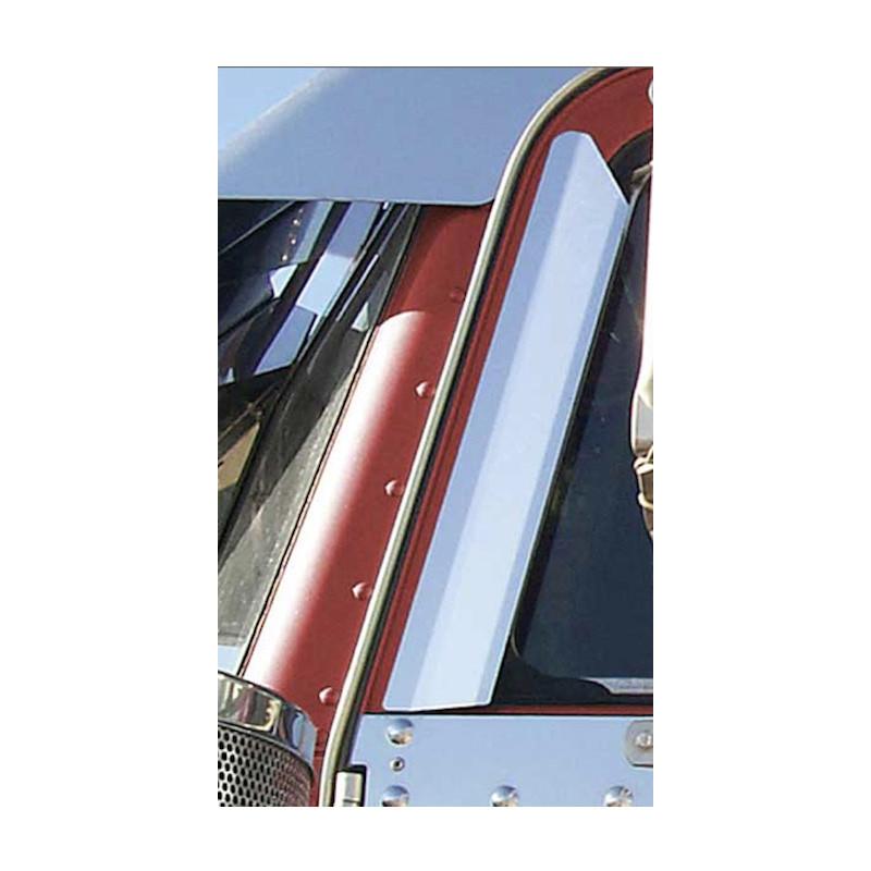 Peterbilt 359 379 362 Window Air Deflectors Close Up