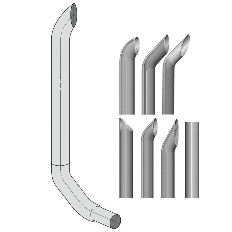 """Kenworth W900 8"""" Lincoln Exhaust Stack Kit"""