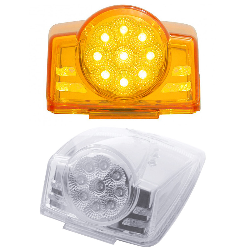 19 LED Reflector Cab Light Amber and Clear