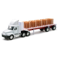 Freightliner Century Classic With Flatbed Trailer 1/32 Scale