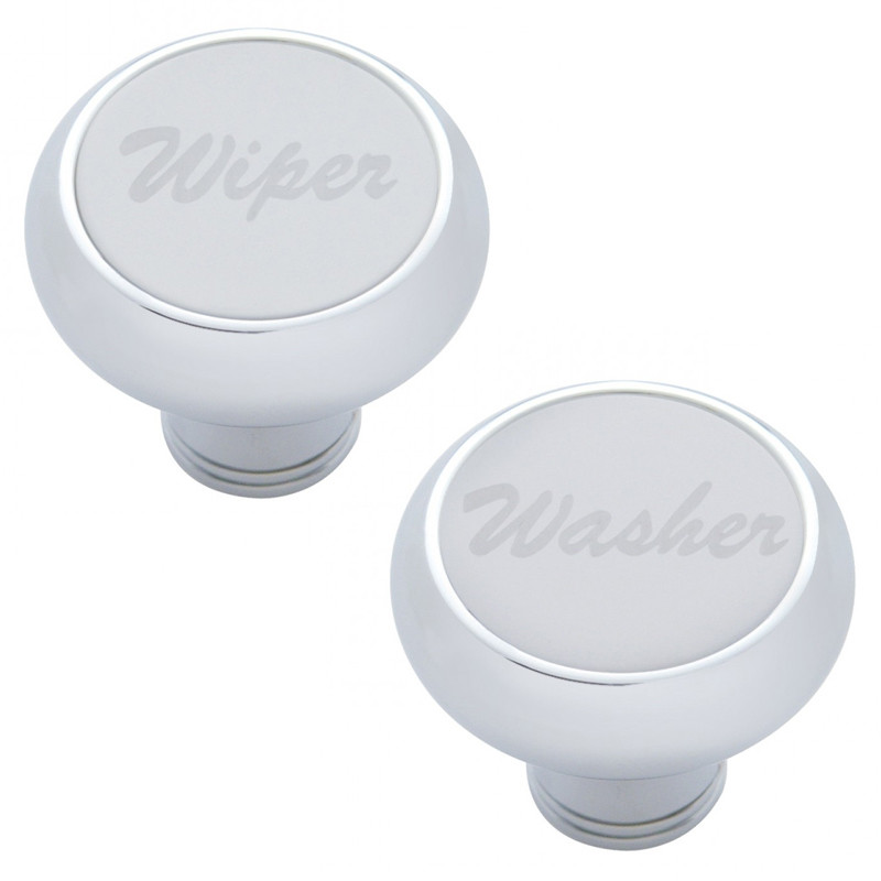 Deluxe Dash Knob With Stainless Plaque
