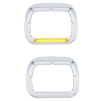 LED Single Headlight Bezel With Visor Both Styles
