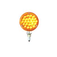 Round Pearl Turn Signal Light - Amber LED/ Amber Lens