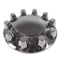 Smoke Chrome Front Axle Cover With 33mm Lug Nut Covers