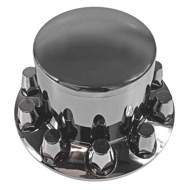 Smoke Chrome Rear Axle Cover With 33mm Lug Nut Covers