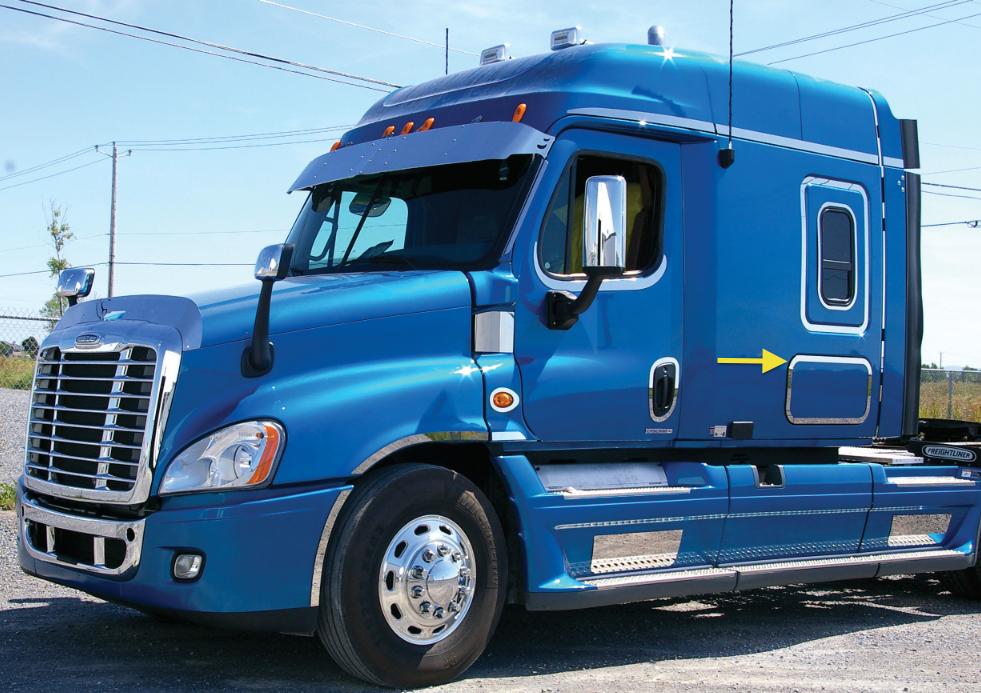 Freightliner Cascadia Chrome Upper CB Radio Trim Semi Truck