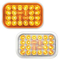 Rectangular Pearl Amber Park Turn Clearance LED Lights