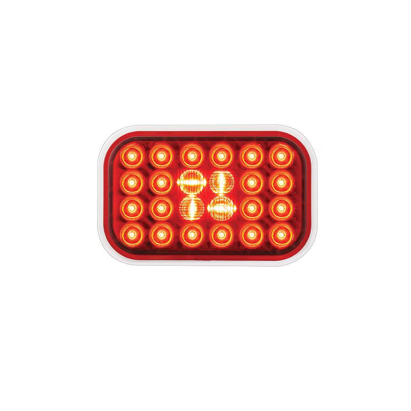 Rectangular Pearl STT Red LED Light
