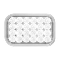 Rectangular Back-Up Clear LED Light