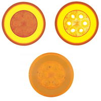 "4"" Round Halo Amber LED Light"