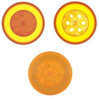 """4"""" Round Halo Amber LED Light"""