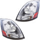 Chrome Volvo VNL Headlights - Driver and Passenger