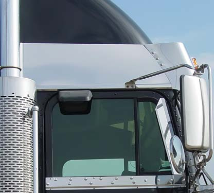 Freightliner Classic FLD Condo Above Door Stainless Trims By Roadworks