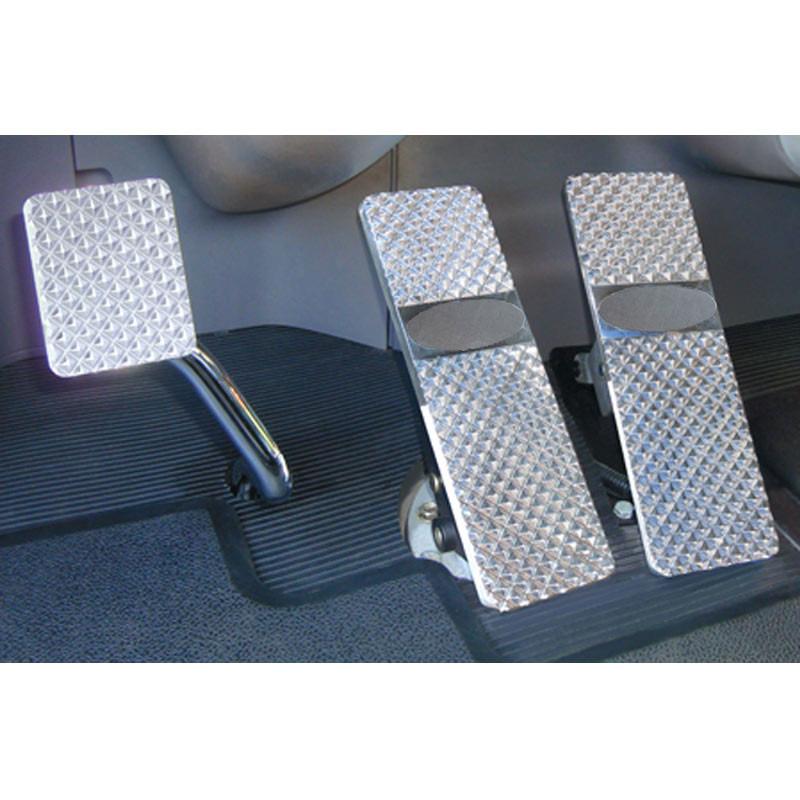 Peterbilt 379 386 388 389 Diamond Billet Foot Pedal Set - Peterbilt 379/386/388/389 (1994+) Diamond Billet Foot Pedal Set - Logo Plate Not Included