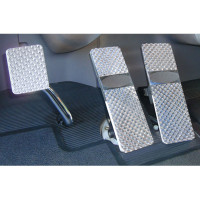 Peterbilt 379 386 388 389 Diamond Billet Foot Pedal Set - Peterbilt 379/386/388/389 (1994+) Diamond Billet Foot Pedal Set - Logo Plate Not Included