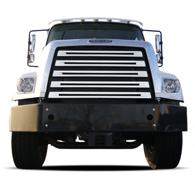 Freightliner 108SD 114SD Stainless Steel Grille Cover Front View