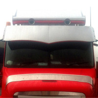 "Freightliner Century 18"" Wicked Drop Visor 2003 And Older - Blank"