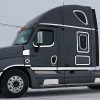 Freightliner Cascadia Cab Panels With 8 Flatline Amber LEDs